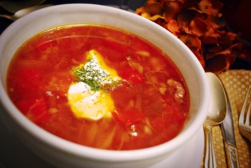 Hot borscht