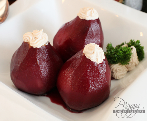 Red Wine Pears &#038; Marscapone Filling <br />{Electric Pressure Cooker Recipe}