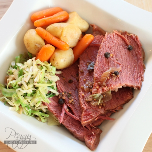St. Patrick&#8217;s Corned Beef &#038; Cabbage <br /> {Electric Pressure Cooker Recipe}